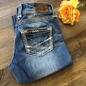 BKE Stella Bootcut Blue Jeans